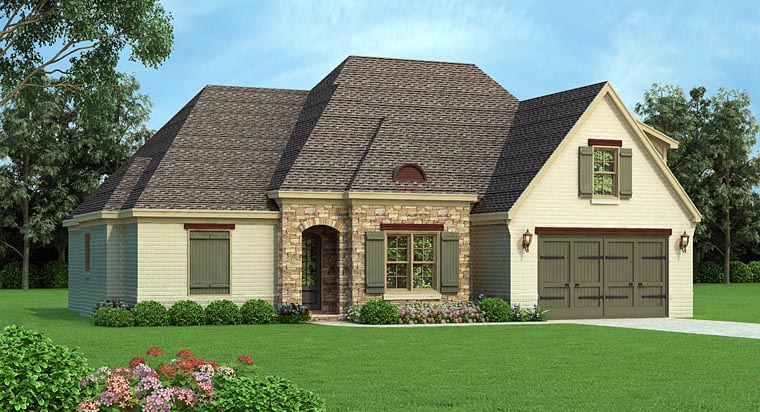 Country European French Country House Plan 51423 Elevation