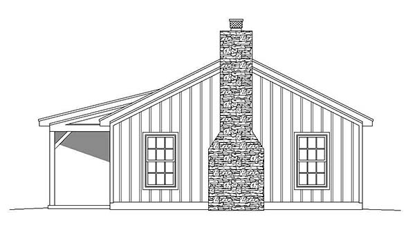 Cabin, Ranch House Plan 51429 with 2 Beds, 1 Baths Picture 1