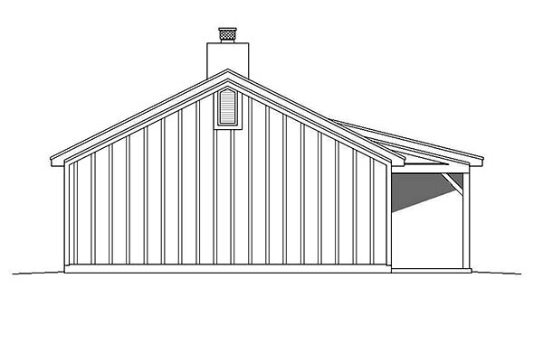 Cabin, Ranch House Plan 51429 with 2 Beds, 1 Baths Picture 2