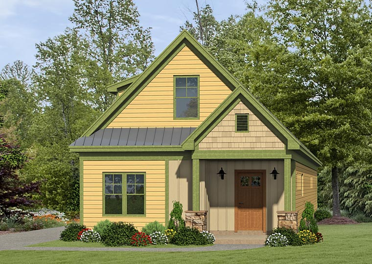 Cabin, Country, Craftsman House Plan 51433 with 3 Beds Elevation
