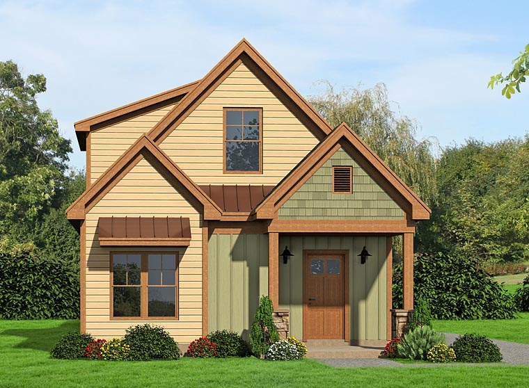 Country Craftsman Traditional Elevation of Plan 51436