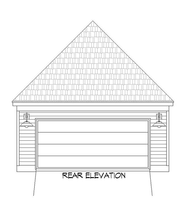 Country Craftsman Traditional Rear Elevation of Plan 51436