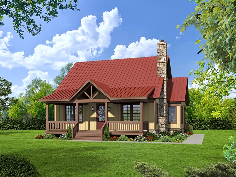 Country, Southern House Plan 51437 with 3 Beds, 3 Baths Front Elevation