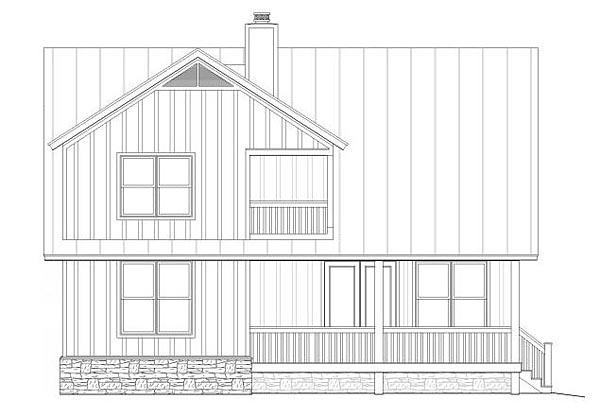 Country House Plan 51440 Rear Elevation