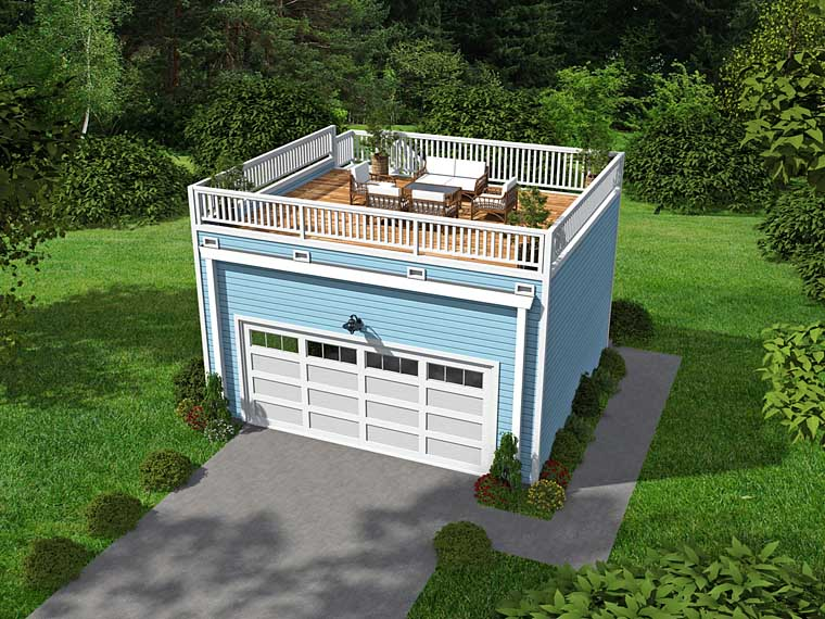 Contemporary Garage Plan 51451 Elevation