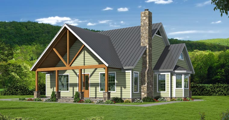 Cottage , Country , Southern , Traditional House Plan 51457 with 3 Beds, 4 Baths Elevation