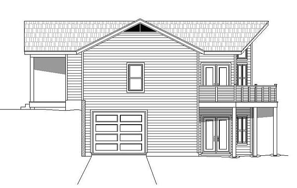 Cabin, Country House Plan 51460 with 3 Beds, 4 Baths, 1 Car Garage Picture 2
