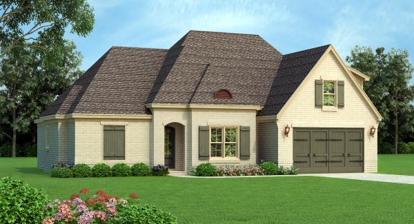 European House Plan 51461 Elevation