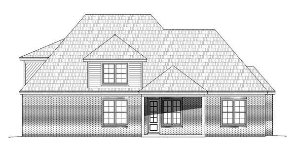 European House Plan 51461 Rear Elevation