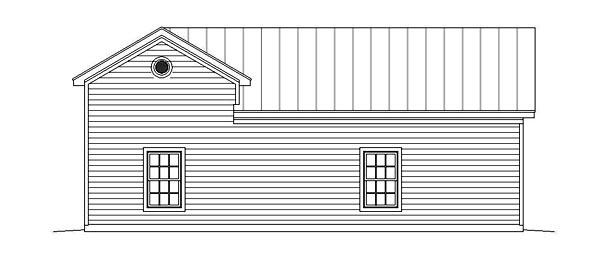 Garage Plan 51462 Rear Elevation