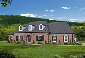 European , Southern House Plan 51468 with 4 Beds, 6 Baths, 3 Car Garage Elevation