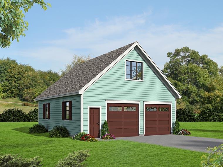 Garage Plan 51469 | Style Plan, 2 Car Garage Elevation
