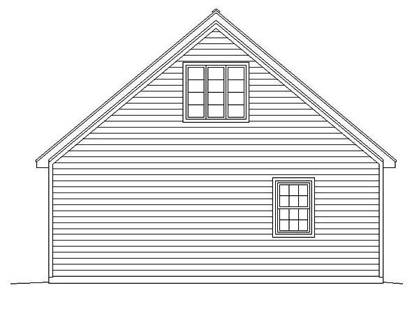 Garage Plan 51469 | Style Plan, 2 Car Garage Rear Elevation
