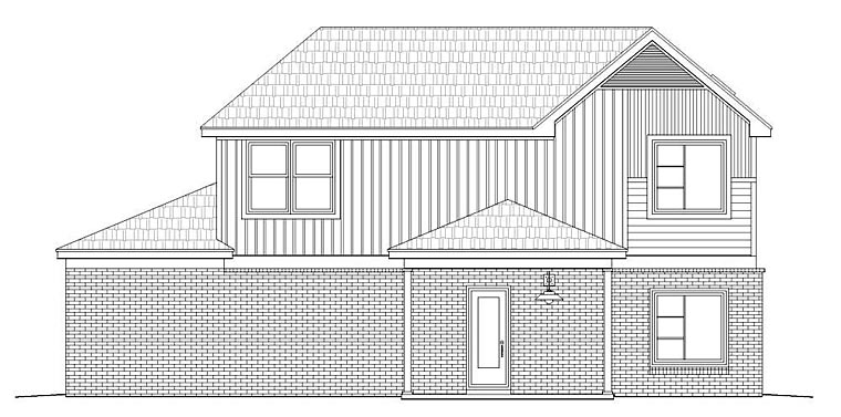 Contemporary Traditional House Plan 51472 Rear Elevation