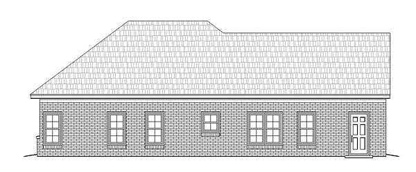 Cottage , Country , Craftsman , Traditional House Plan 51474 with 2 Beds, 2 Baths, 1 Car Garage Rear Elevation