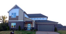 Contemporary Craftsman House Plan 51475 Elevation