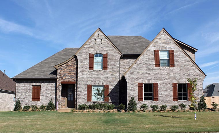 French Country , Traditional , Tudor House Plan 51478 with 4 Beds, 3 Baths, 2 Car Garage Elevation