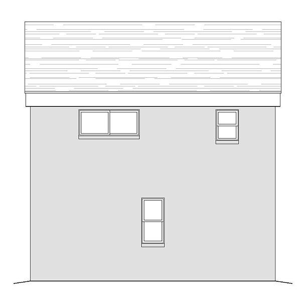 Contemporary Modern Garage Plan 51479 Rear Elevation