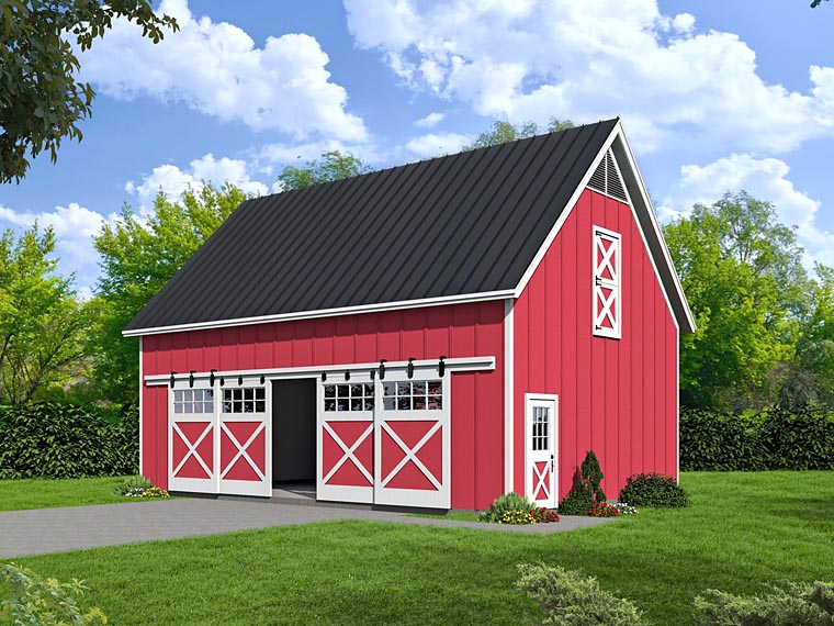 Country Garage Plan 51480 Elevation