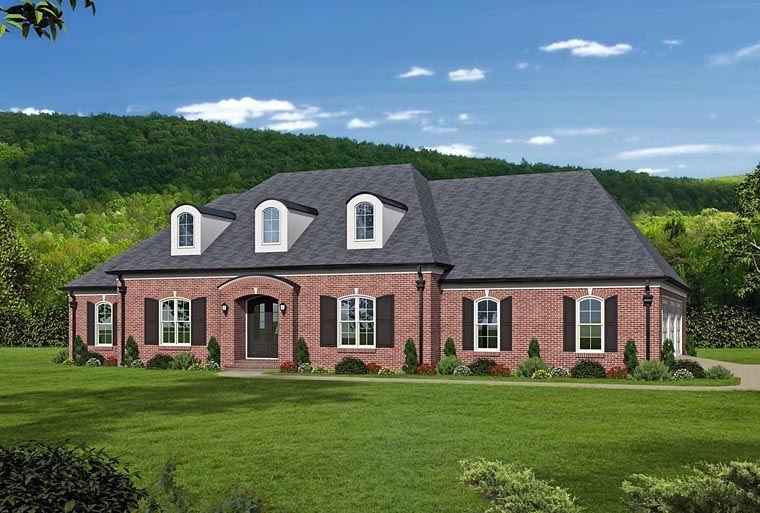 European, French Country, Southern House Plan 51481 with 5 Beds, 6 Baths, 3 Car Garage Elevation