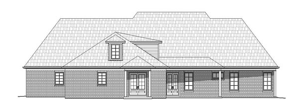 European, French Country, Southern House Plan 51481 with 5 Beds, 6 Baths, 3 Car Garage Rear Elevation