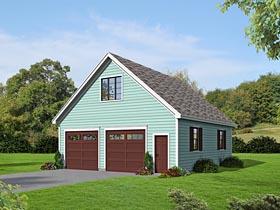 Traditional Garage Plan 51482 Elevation