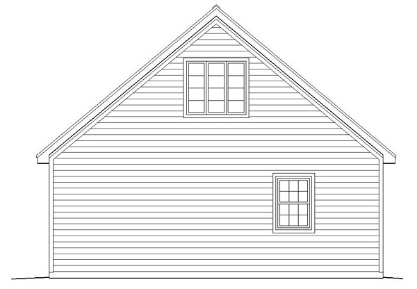 Traditional Garage Plan 51482 Rear Elevation