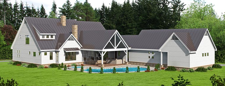 Traditional House Plan 51484 Rear Elevation