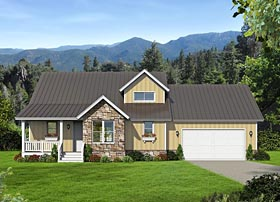 Country Ranch Southern House Plan 51486 Elevation