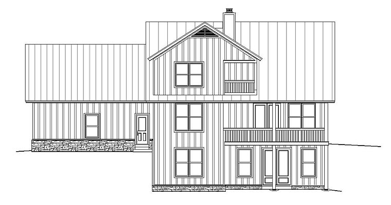 Country Ranch Southern House Plan 51486 Rear Elevation