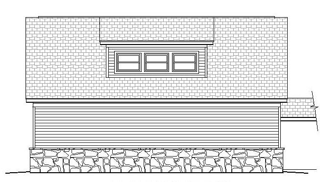 Country Garage Plan 51490 Rear Elevation