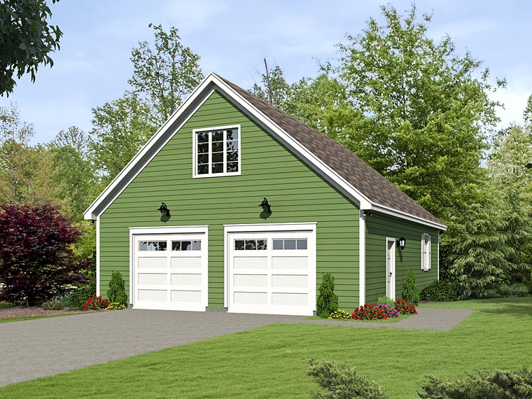 Traditional 4 Car Garage Plan 51495 Elevation