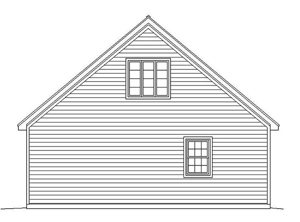 Traditional 4 Car Garage Plan 51495 Rear Elevation