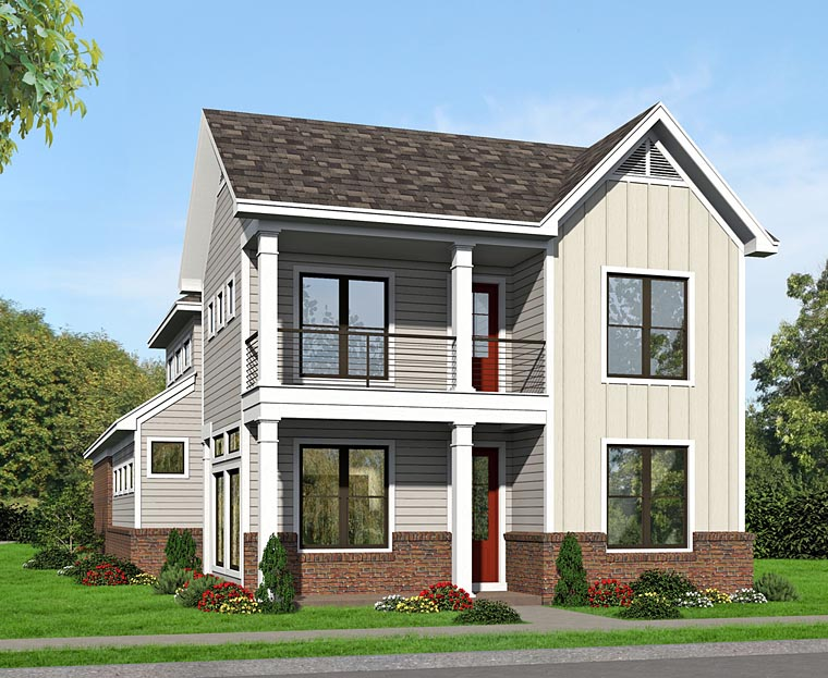 Colonial , Traditional House Plan 51496 with 3 Beds, 3 Baths, 3 Car Garage Elevation