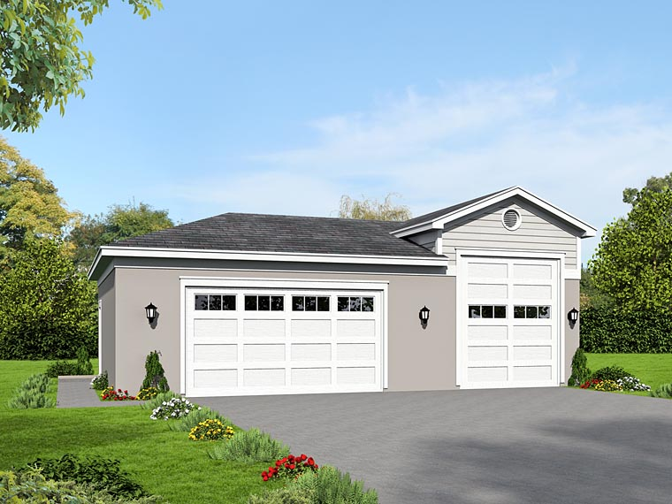 Traditional Garage Plan 51498 Elevation