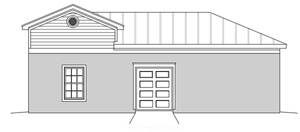 Traditional Garage Plan 51498 Rear Elevation