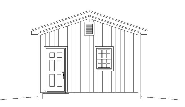 Traditional Garage Plan 51502 Rear Elevation