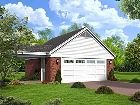 Traditional Garage Plan 51503 Elevation