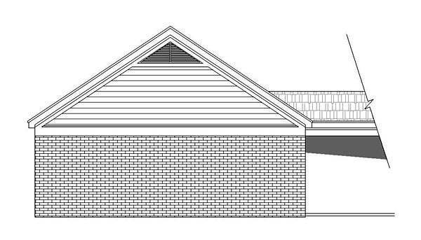 Traditional Garage Plan 51503 Rear Elevation
