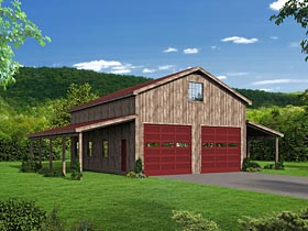 Country Garage Plan 51507 Elevation