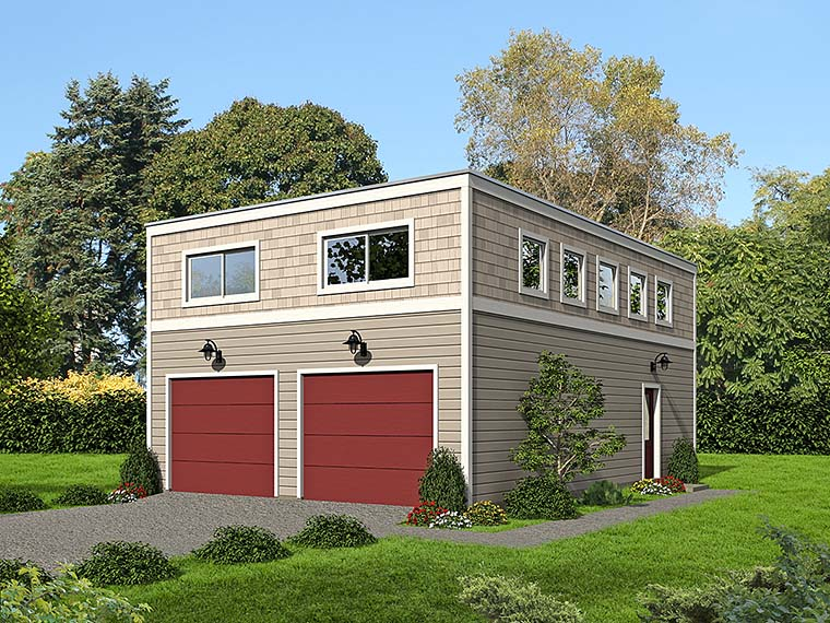 Contemporary Modern Garage Plan 51510 Elevation