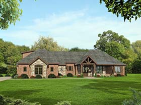Country Craftsman Southern Traditional House Plan 51516 Elevation