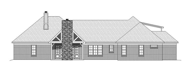 Country Craftsman Southern Traditional House Plan 51516 Rear Elevation