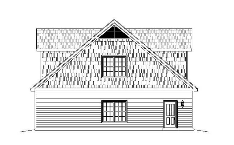 4 Car Garage Apartment Plan 51518 with 1 Beds, 2 Baths Picture 1