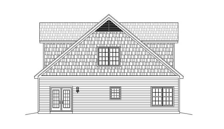 4 Car Garage Apartment Plan 51518 with 1 Beds, 2 Baths Picture 2