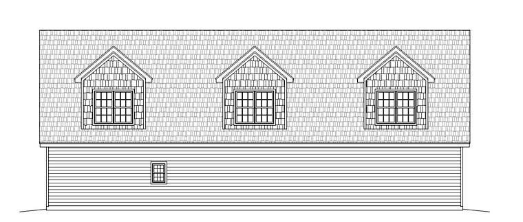 Garage Plan 51518 Rear Elevation