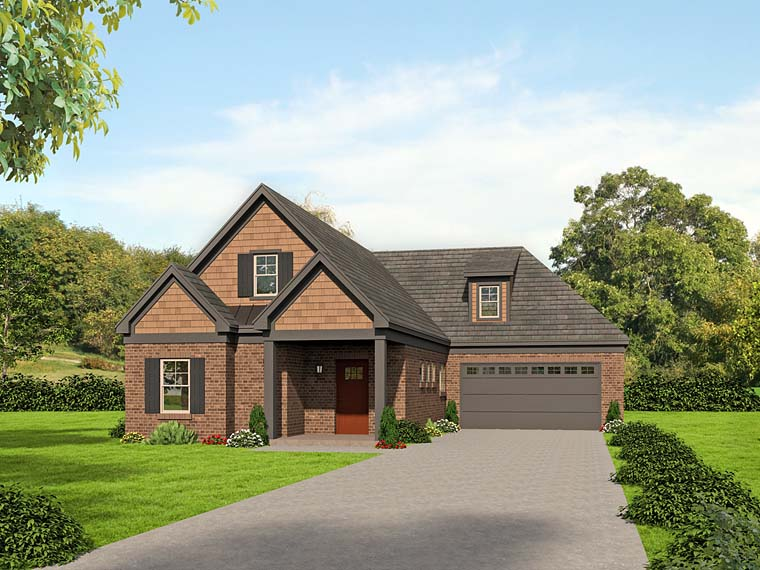 House Plan 51520 | Cottage Southern Traditional Style Plan with 2367 Sq Ft, 3 Bed, 2 Bath, 2 Car Garage Elevation