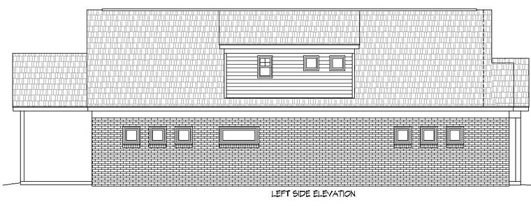 Cottage, Southern, Traditional House Plan 51520 with 3 Beds, 2 Baths, 2 Car Garage Picture 1