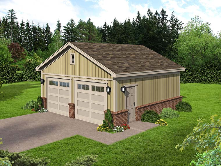 2 Car Garage Plan 51530 Elevation