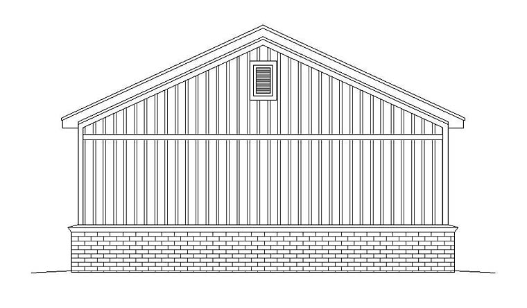 2 Car Garage Plan 51530 Rear Elevation